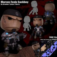 Gears of War Sackboy by Tesio