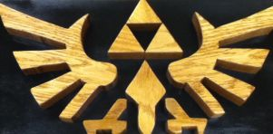 LoZ Triforce Intarsia by howlingwolf142