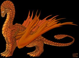 Dragon: Protius Flame Heart by naraphim