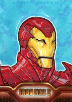 Iron Man 2 sketchcards 2 by SpiderGuile