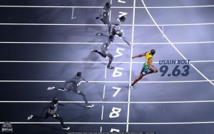 Usain Bolt 9.63s Wallpaper by lisong24kobe