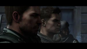 Chris Redfield and Piers Nivans by Plamber