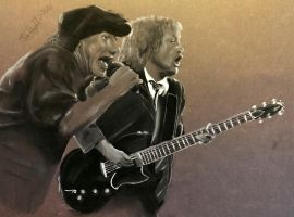 Brian and Angus AC/DC by Jon-Wyatt