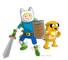 Finn and Jake Level up by hpkomic