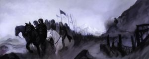 Passing of the Grey Company by JeiWo