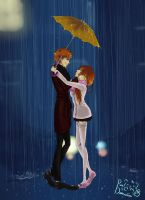 In The Rain With You *Coloured* by Mute-Massacre
