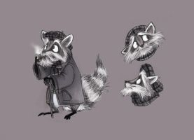 Old Raccoon by hampsty