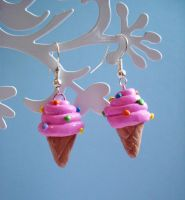 I scream ice cream earrings by LittleMissDelicious