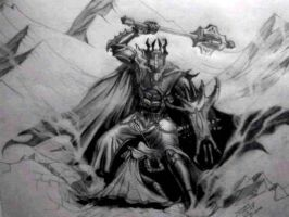 Morgoth and Fingolfin by magnusatthva