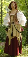 Burgundy and Gold Wench 2 by MistressKristin
