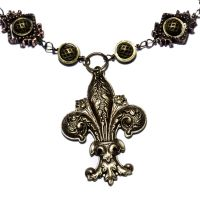 Fleur de Lis Necklace by CatherinetteRings