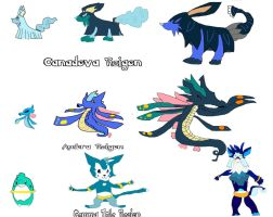 Fakemon Water  Starters by Steamland