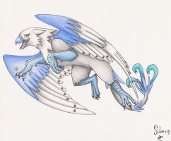 Playful Silver the gryphon by martylovespinkfloyd