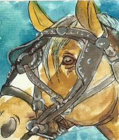 work horse ACEO series 4 by jupiterjenny