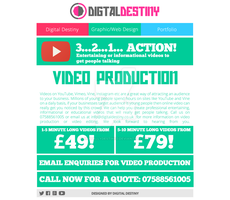 Video Production Page Redesign by DigitallyDestined