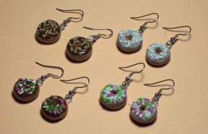 Doughnut earrings by Gimmeswords