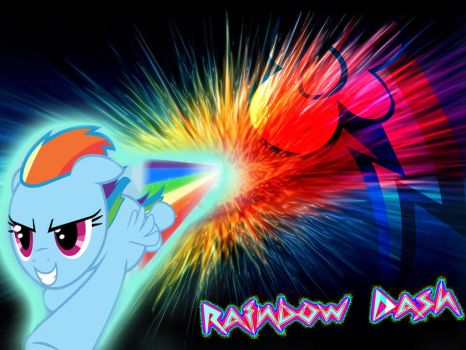 BG My Little Pony FIM Rainbow Dash by Moonofthedarknight