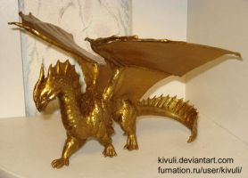 Gold Dragon WIP by Kivuli