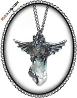 Dragon on Crystal Necklace by Ideationox