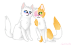 Brightheart and Cloudtail by SoulCats
