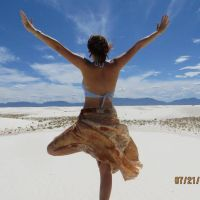 Yoga in the desert by LauraCate