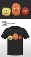 Cute Monsters T Shirt Design by Kandles
