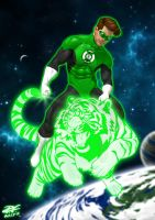 Green Lantern by Pandaphobia