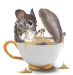 Day 10 Teacup: Chinchilla by Yufika