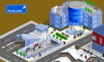 Pixeldam City Hall and subway by bgr