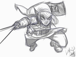 Link from Zelda redrawn joe mad sketch by me!! by Gman20999
