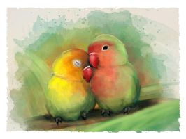 Lovebirds by NelEilis