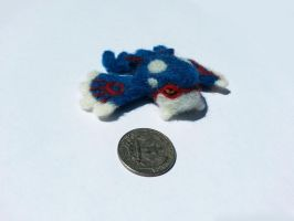 Needle Felted Kyogre by Phisican