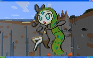 Meloetta Aria Form On Minecraft by Miccopicco