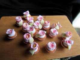 Barbie cupcakes by GoddessofChocolate