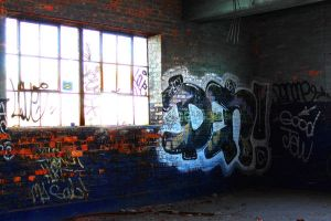 Blue Graffiti by S-H-Photography