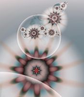 reflection of flowers in a drop - ultra fractal by SvitakovaEva