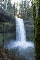 Silver Falls State Park - South Falls by CyclicalCore