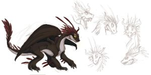HTTYD Poisonous Whiptail by Clairictures