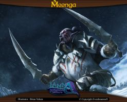 Moonga - Elf Berserker's Attack by moonga