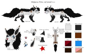 Stefyena's FULL feral ref sheet (Updated) by DudeWheresMyLion