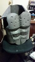 Hellboy Costume 2 *commision edition* Chest WIP by DJdrummer