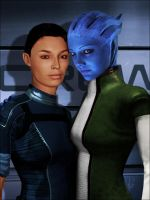 Ashley and Liara by Jhourney