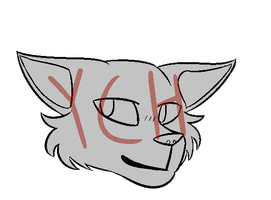Another Cat Head YCH OPEN by minrew12adopts