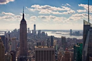 Empire State and downtown Manhatten by Thoesoe