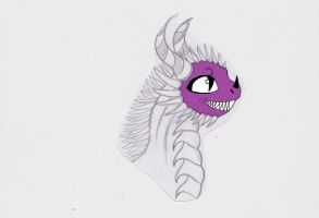 slowly colouring my cheeky dragon. by wolf-child1995