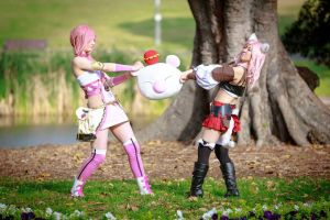 Fight over the moogle by ZombieQueenAlly