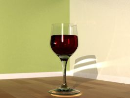3Ds Max: Red Wine by zeebow14