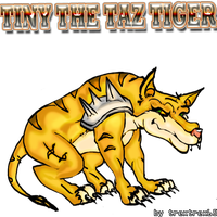 tiny the taz tiger 2 by trextrex65