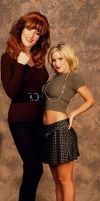 Katey Sagal and Christina Applegate by lowerrider