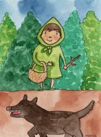 Green Riding Hood by Maria-Garcia
